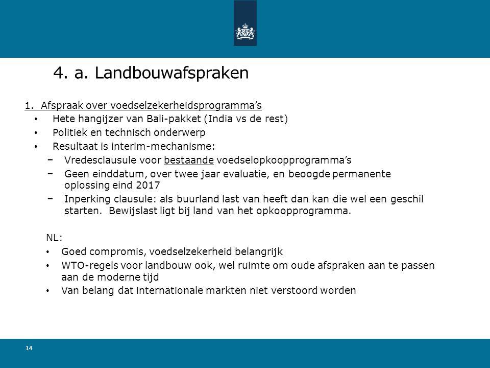 4.a. Landbouwafspraken 1.