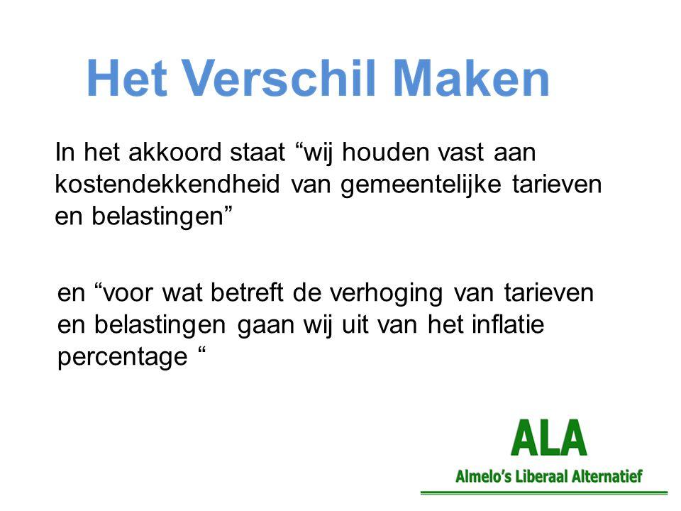 Stijging lokale lasten in Almelo