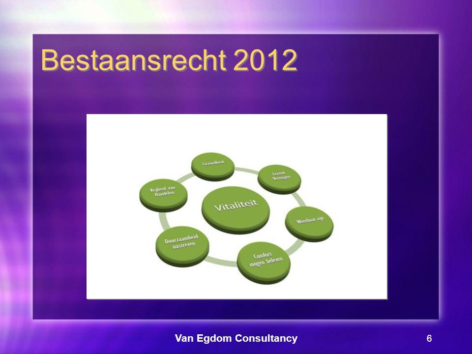 Van Egdom Consultancy 7 Bestaansrecht 2012