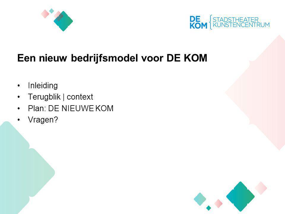 DE KOM DE KOM is het bruisende cultuurcentrum van Nieuwegein (en regio) waar altijd wat te beleven is.