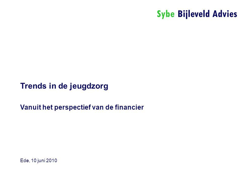 Sybe Bijleveld Advies Trends in de jeugdzorg Vanuit het perspectief van de financier Ede, 10 juni 2010
