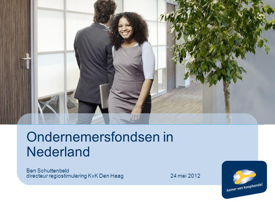 Ondernemersfondsen in Nederland Ben Schuttenbeld directeur regiostimulering KvK Den Haag 24 mei 2012