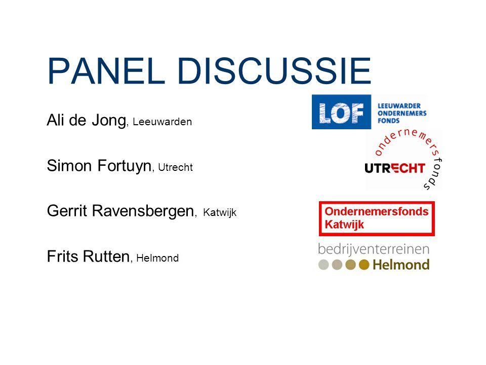 PANEL DISCUSSIE Ali de Jong, Leeuwarden Simon Fortuyn, Utrecht Gerrit Ravensbergen, Katwijk Frits Rutten, Helmond