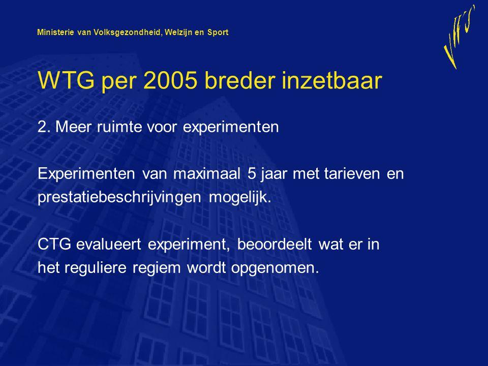 Ministerie van Volksgezondheid, Welzijn en Sport Mijn advies: Aan de slag, gebruik de WTG en andere regelingen.