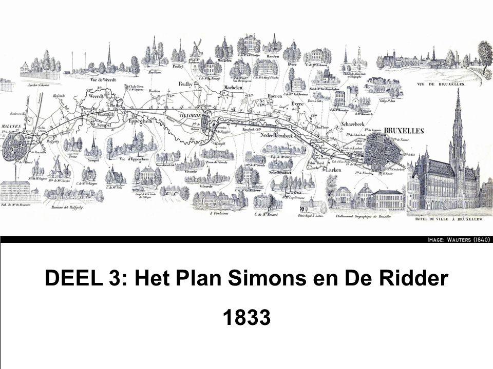 DEEL 3: Het Plan Simons en De Ridder 1833