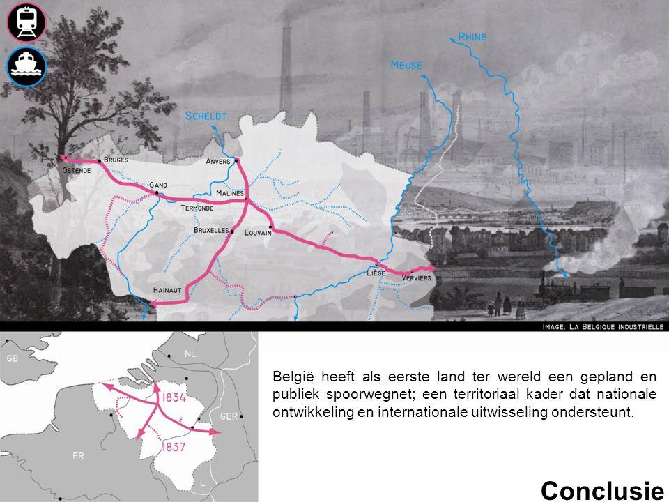 Conclusie België heeft als eerste land ter wereld een gepland en publiek spoorwegnet; een territoriaal kader dat nationale ontwikkeling en internation