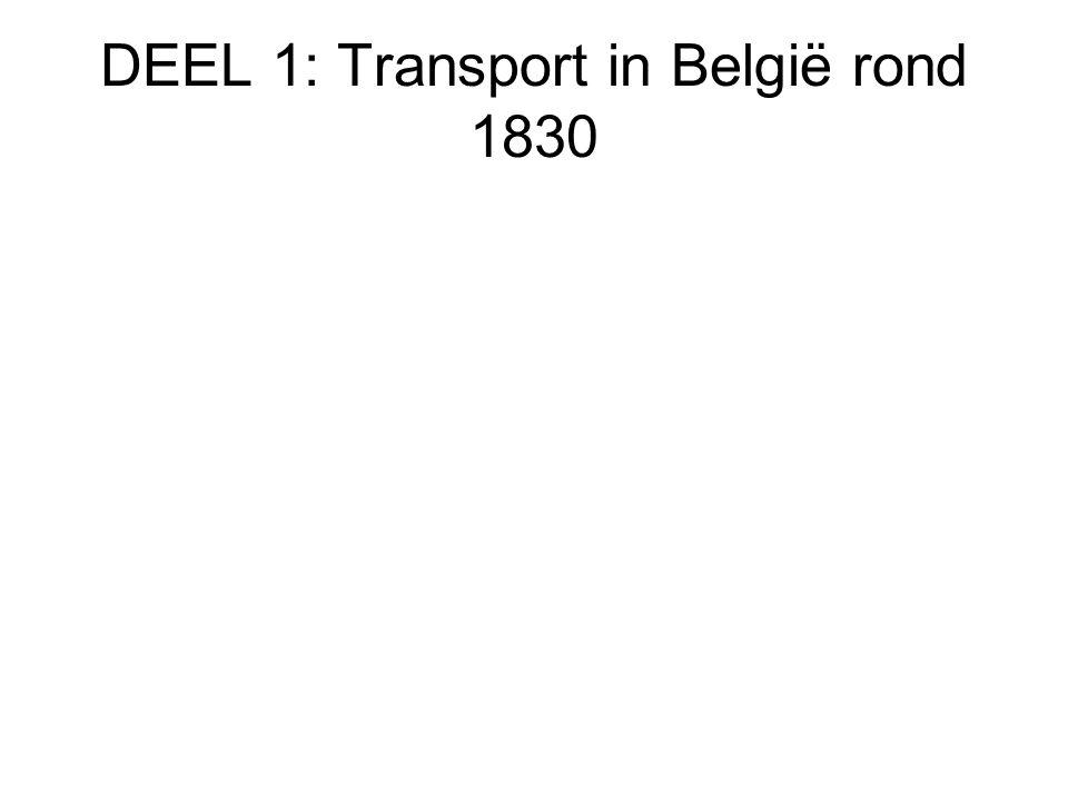 DEEL 1: Transport in België rond 1830