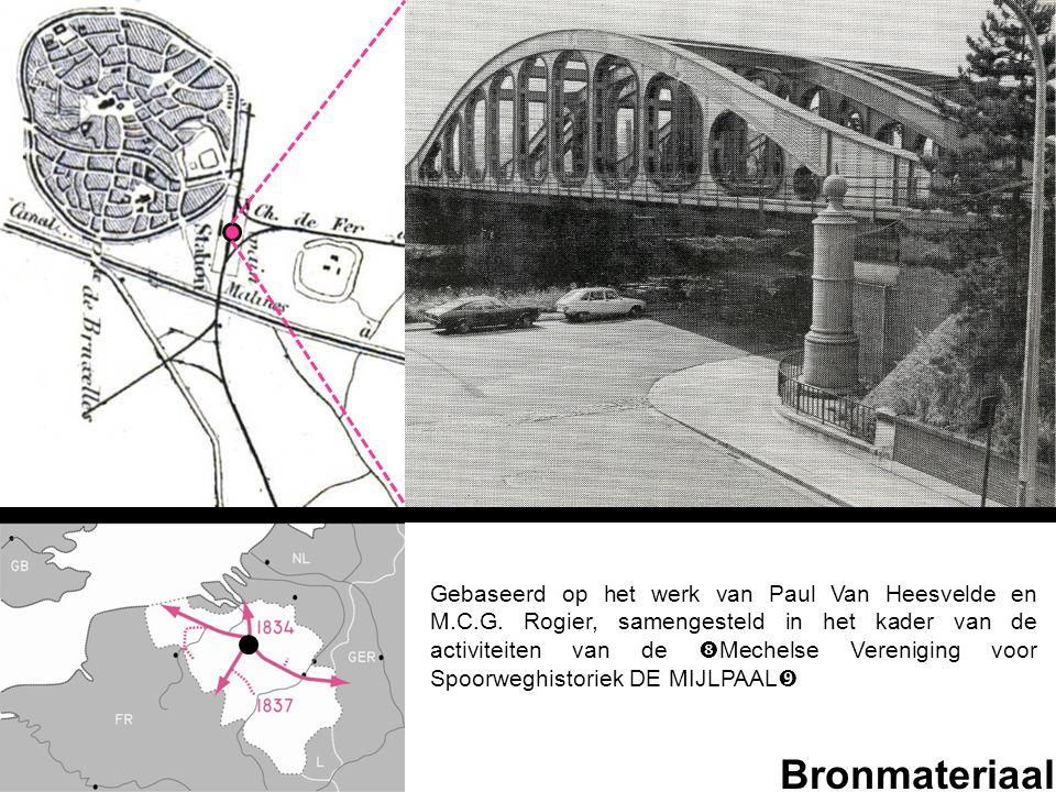 Bronmateriaal Gebaseerd op het werk van Paul Van Heesvelde en M.C.G. Rogier, samengesteld in het kader van de activiteiten van de  Mechelse Verenigin