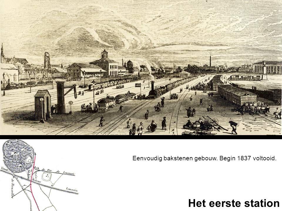 Eenvoudig bakstenen gebouw. Begin 1837 voltooid. Het eerste station