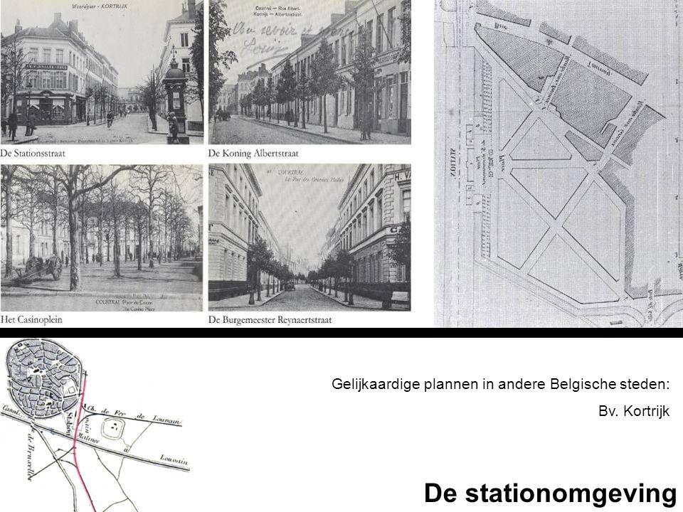Gelijkaardige plannen in andere Belgische steden: Bv. Kortrijk De stationomgeving