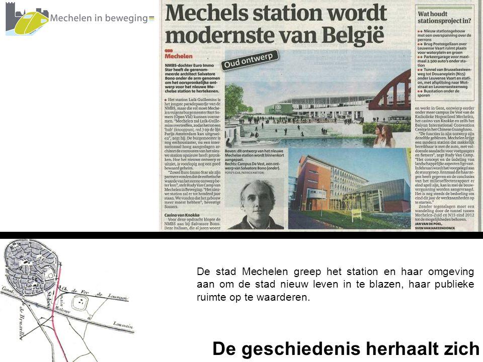 De stad Mechelen greep het station en haar omgeving aan om de stad nieuw leven in te blazen, haar publieke ruimte op te waarderen. De geschiedenis her