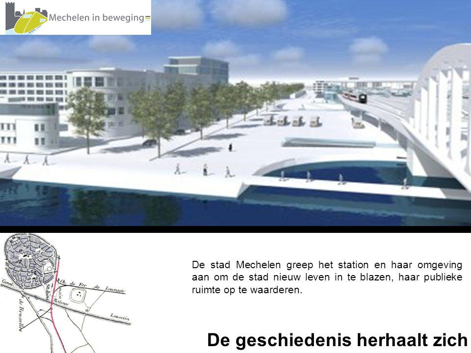De stad Mechelen greep het station en haar omgeving aan om de stad nieuw leven in te blazen, haar publieke ruimte op te waarderen.