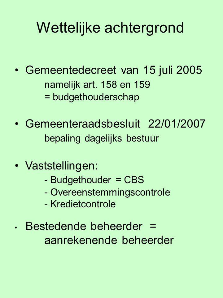 Wettelijke achtergrond Gemeentedecreet van 15 juli 2005 namelijk art.