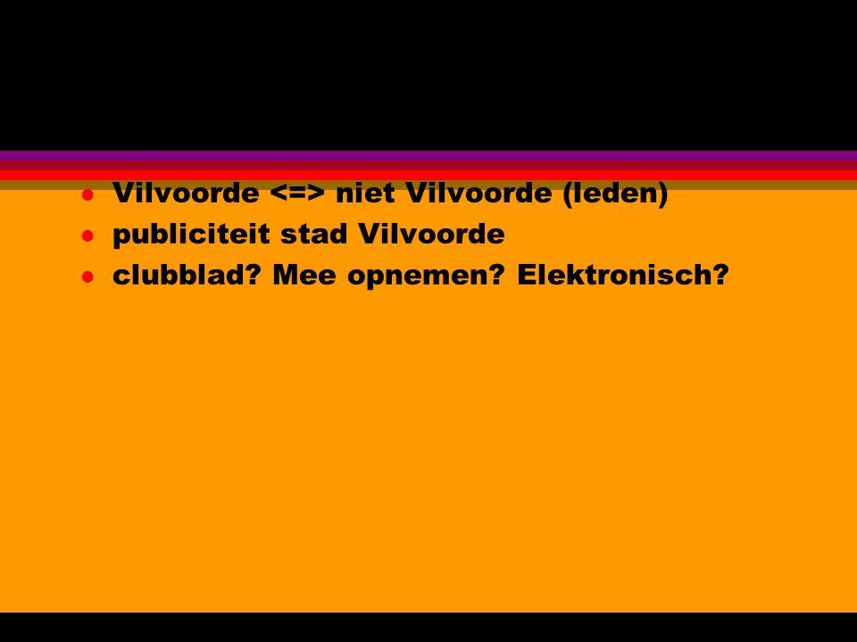 l Vilvoorde niet Vilvoorde (leden) l publiciteit stad Vilvoorde l clubblad.