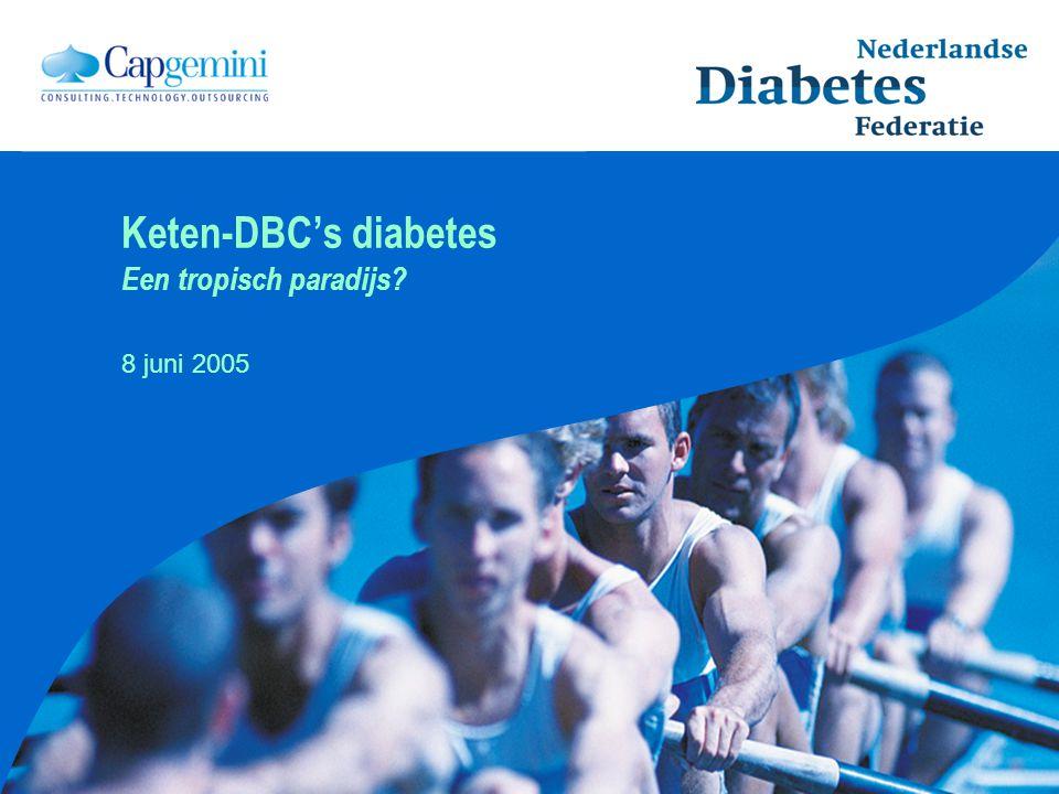 Keten-DBC's diabetes Een tropisch paradijs? 8 juni 2005
