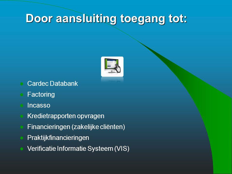 Een (financiële) zorg minder ! Meer info op www.cardec.nl