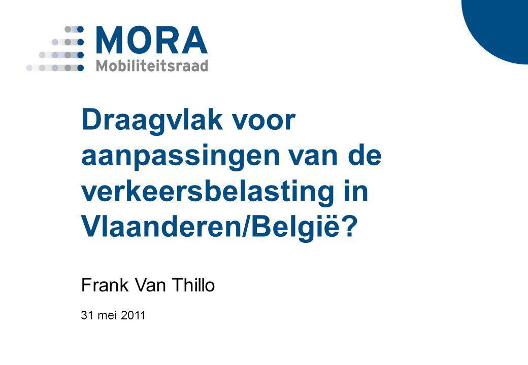 Draagvlak voor aanpassingen van de verkeersbelasting in Vlaanderen/België.