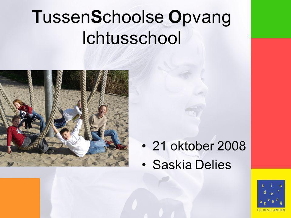 TussenSchoolse Opvang Ichtusschool 21 oktober 2008 Saskia Delies