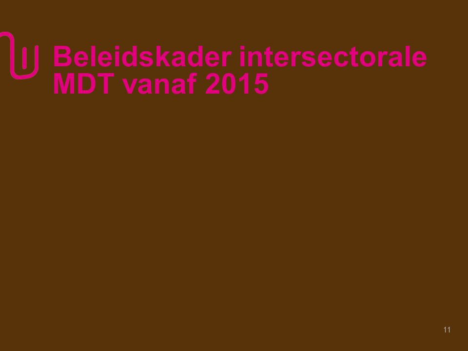 Beleidskader intersectorale MDT vanaf 2015 11