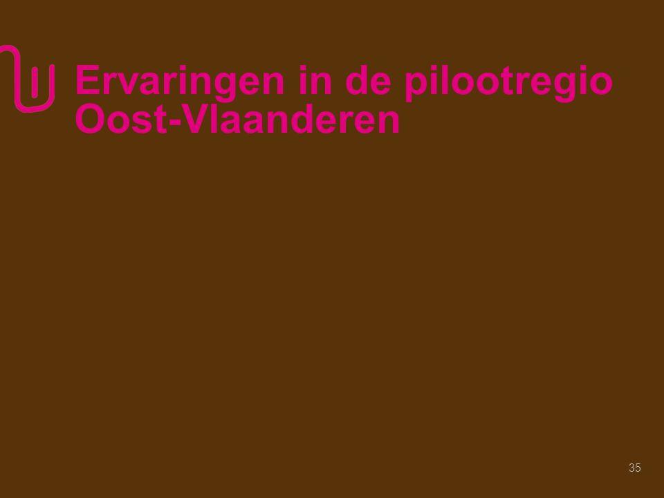 Ervaringen in de pilootregio Oost-Vlaanderen 35