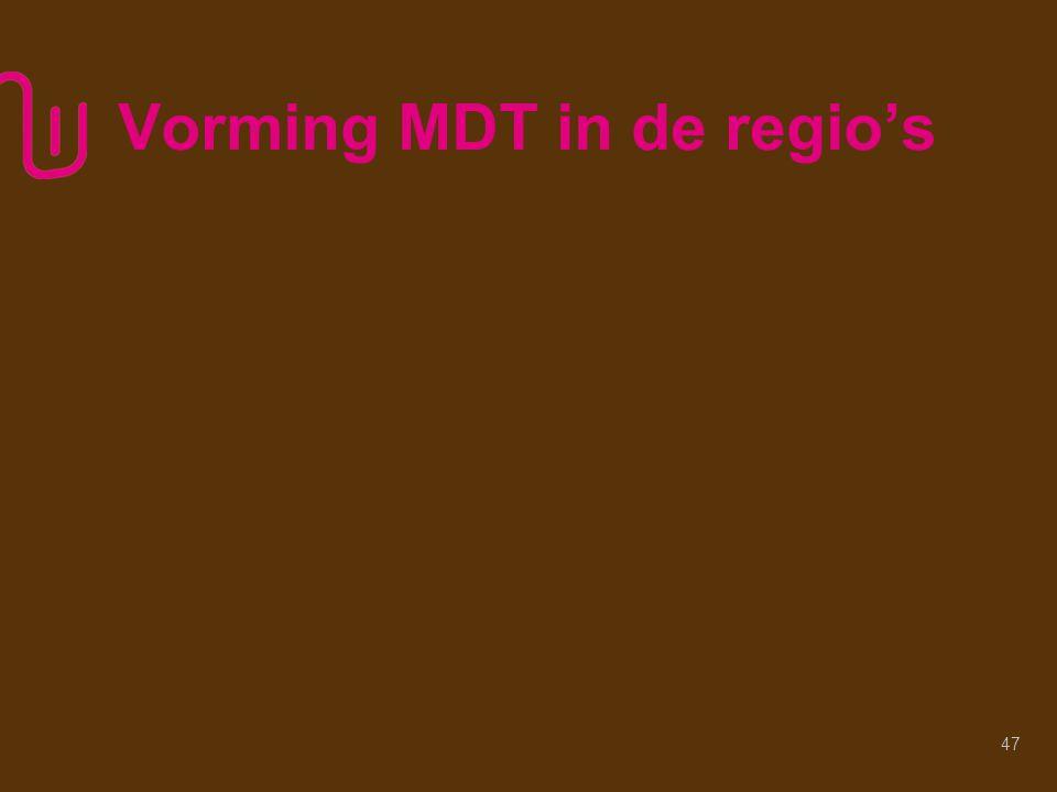 Vorming MDT in de regio's 47