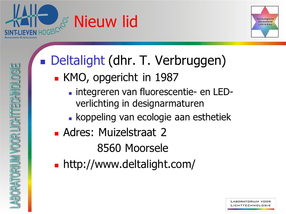 Nieuw lid Deltalight (dhr. T.