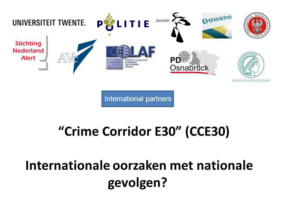 """Crime Corridor E30"" (CCE30) Internationale oorzaken met nationale gevolgen? International partners"