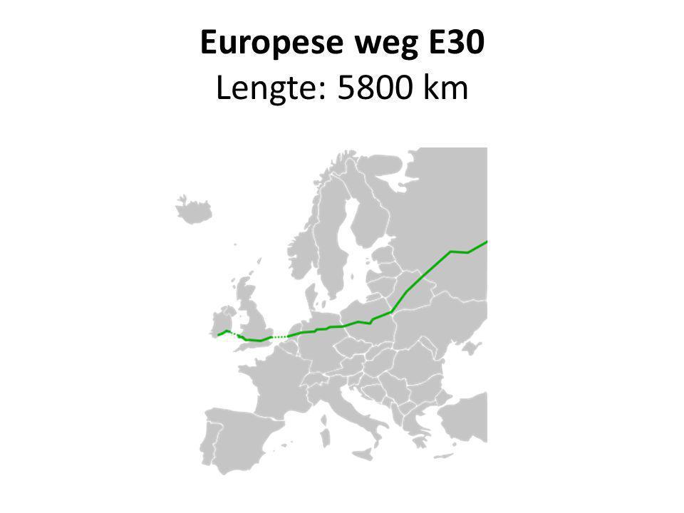 Europese weg E30 Lengte: 5800 km
