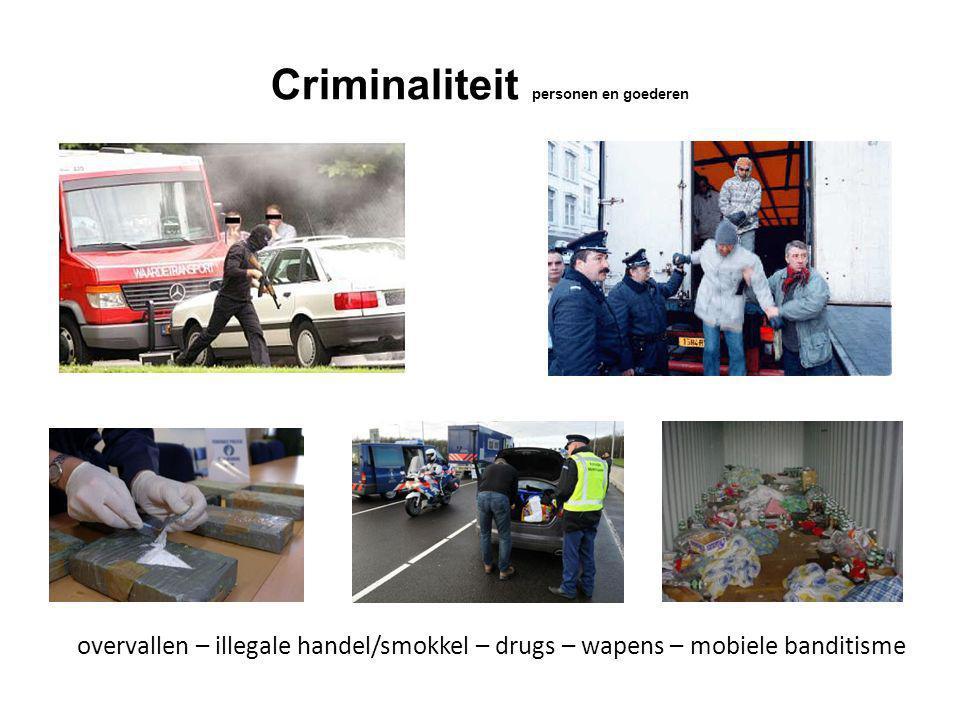 Criminaliteit personen en goederen overvallen – illegale handel/smokkel – drugs – wapens – mobiele banditisme
