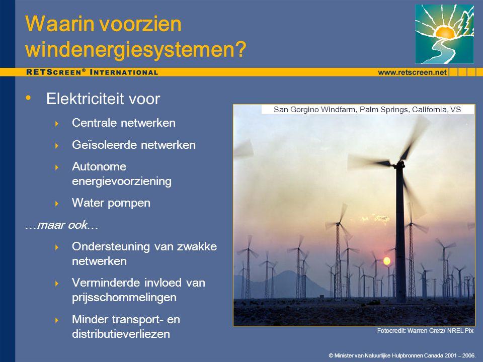 © Minister van Natuurlijke Hulpbronnen Canada 2001 – 2006. Elektriciteit voor  Centrale netwerken  Geïsoleerde netwerken  Autonome energievoorzieni