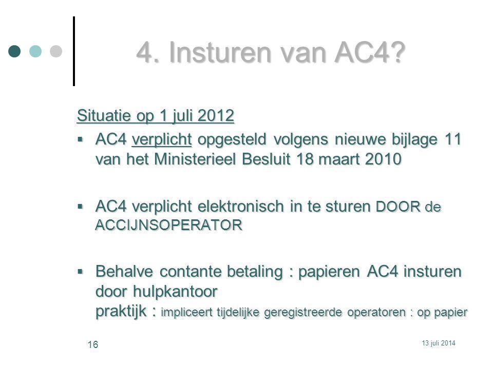 4.Insturen van AC4.