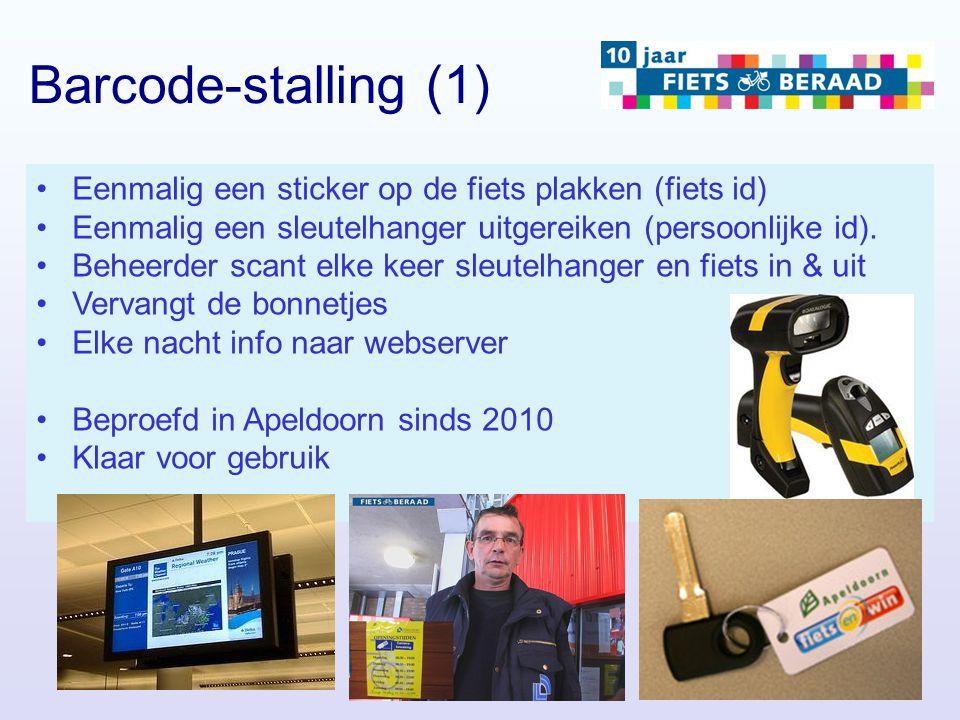 Eenmalig een sticker op de fiets plakken (fiets id) Eenmalig een sleutelhanger uitgereiken (persoonlijke id). Beheerder scant elke keer sleutelhanger