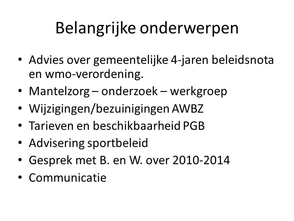 Breed Overleg Ontstaan door Besluit B.en W juli 2007.