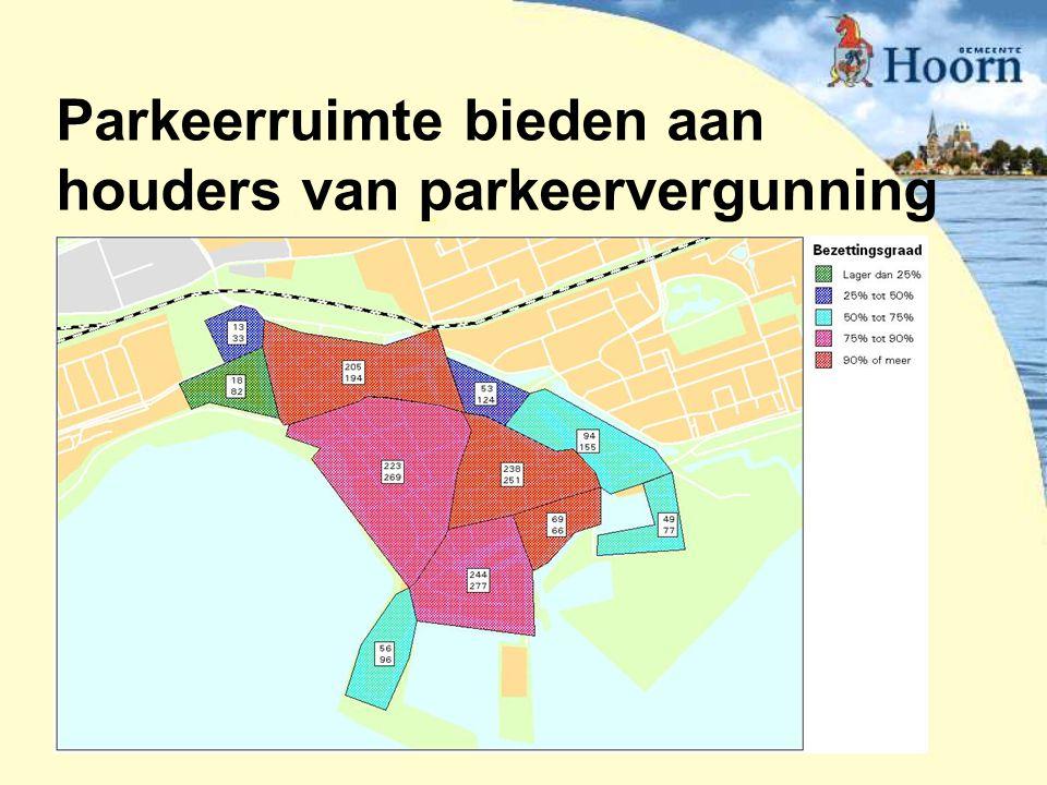 Parkeerruimte bieden aan houders van parkeervergunning