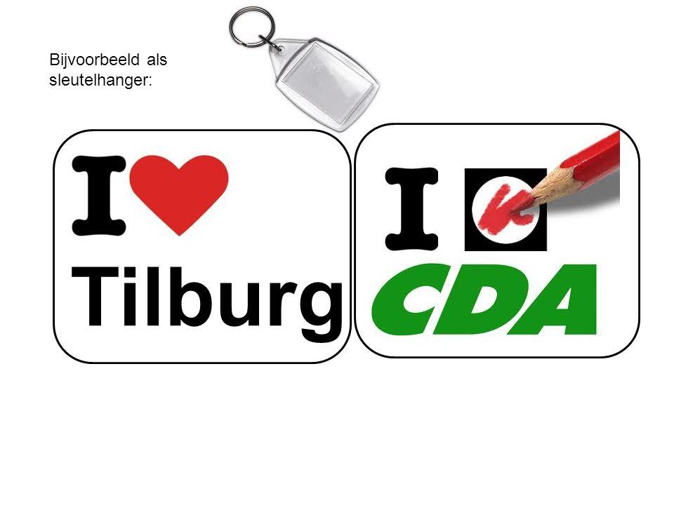 Tilburg Bijvoorbeeld als sleutelhanger: