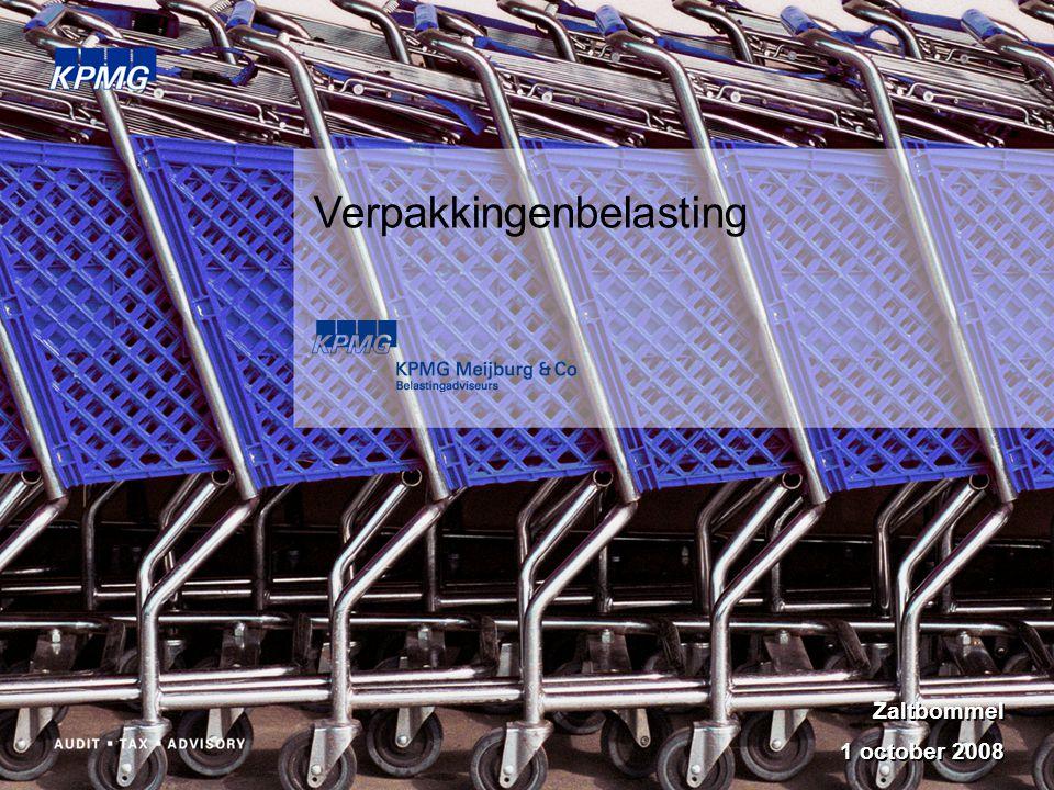 Verpakkingenbelasting Zaltbommel 1 october 2008 Zaltbommel 1 october 2008