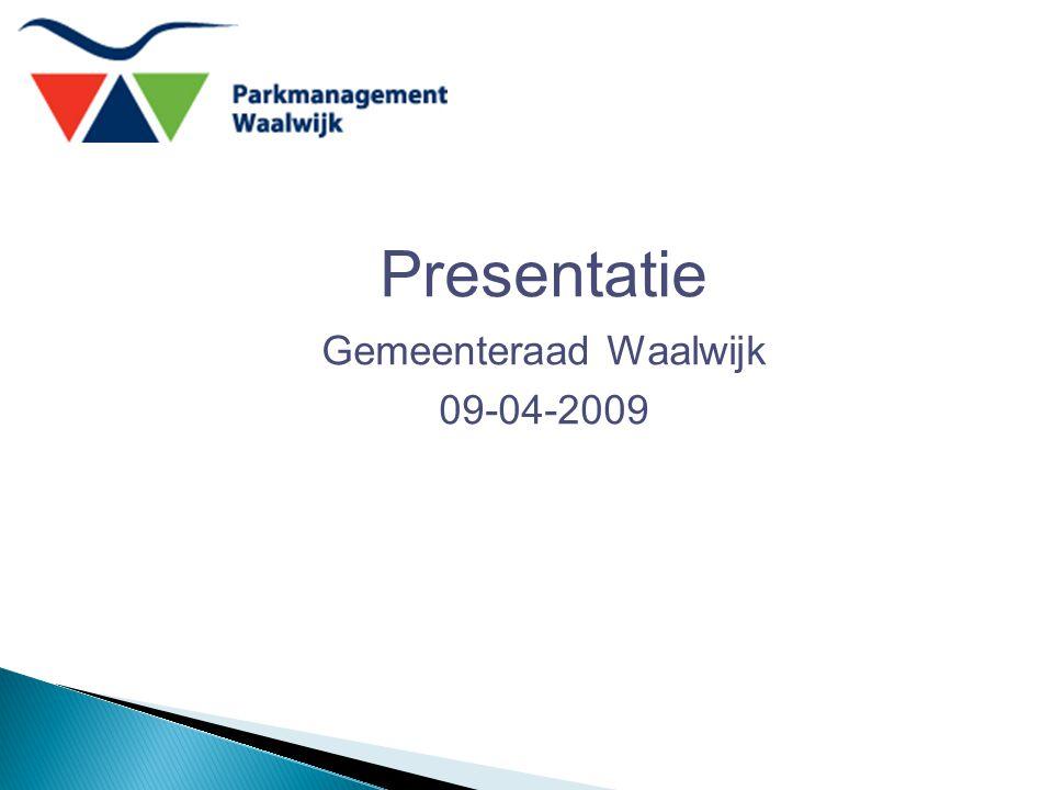 Presentatie Gemeenteraad Waalwijk 09-04-2009