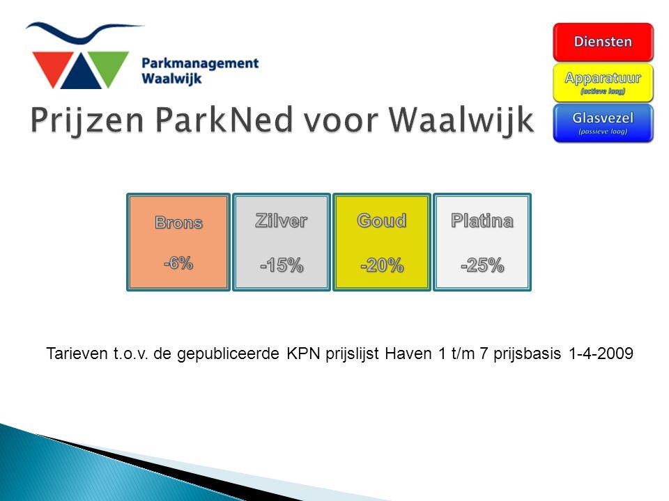 Tarieven t.o.v. de gepubliceerde KPN prijslijst Haven 1 t/m 7 prijsbasis 1-4-2009