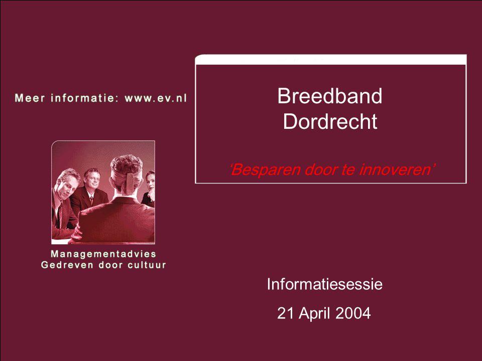 2 Managementadvies – Gedreven door cultuur Agenda oAanleiding/ontwikkeling/voordelen oModellen oDeelnemen aan Breedband Dordrecht –Da Vinci College (dhr.