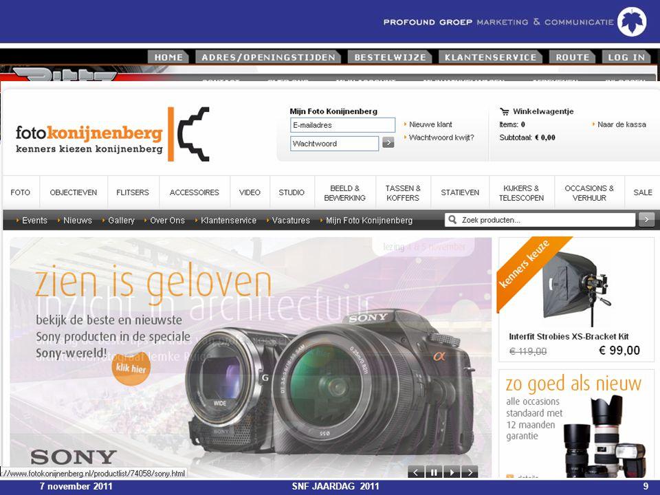7 november 2011SNF JAARDAG 201150 Dashboards
