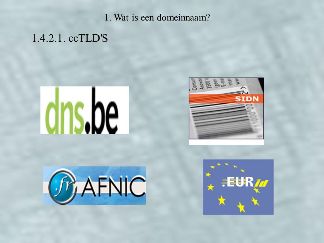 1.4.2.1. ccTLD S 1. Wat is een domeinnaam
