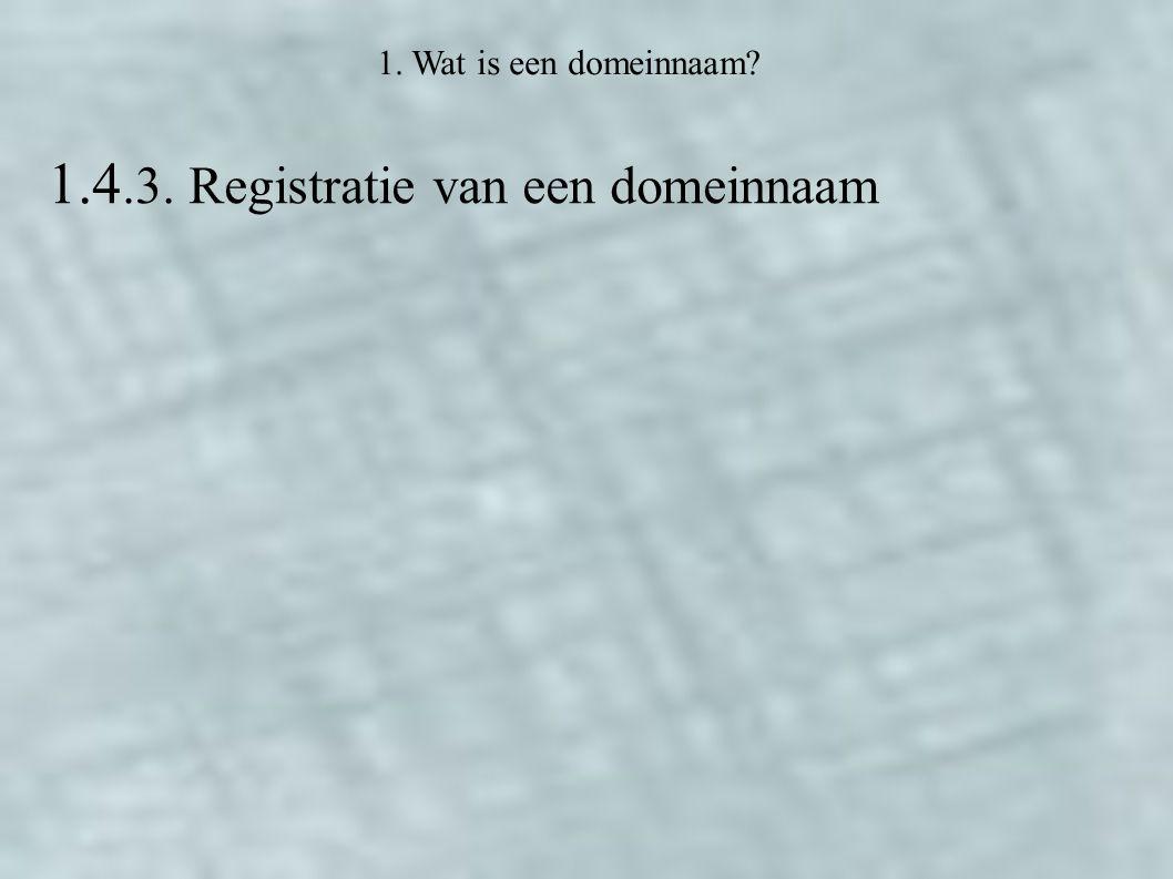 1.4.3. Registratie van een domeinnaam