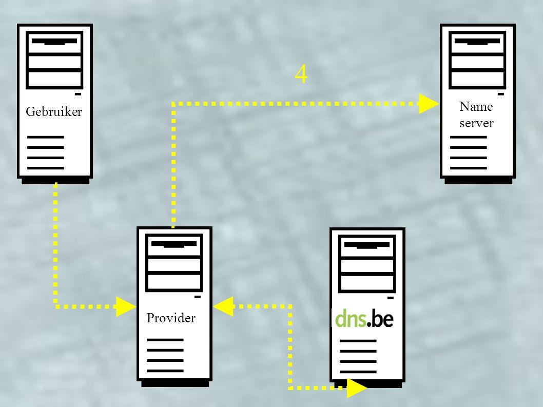 Provider Gebruiker Name server 4