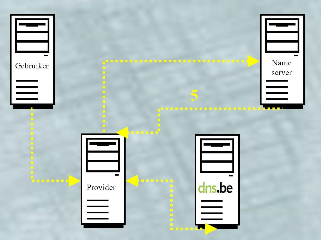 Provider Gebruiker Name server 5