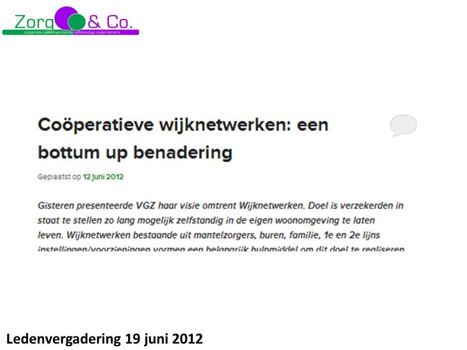Ledenvergadering 19 juni 2012