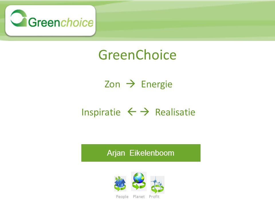 People Planet Profit AGENDA 1: Wie / wat is GreenChoice 2: Collectieve initiatieven 3: Zelf energie opwekken