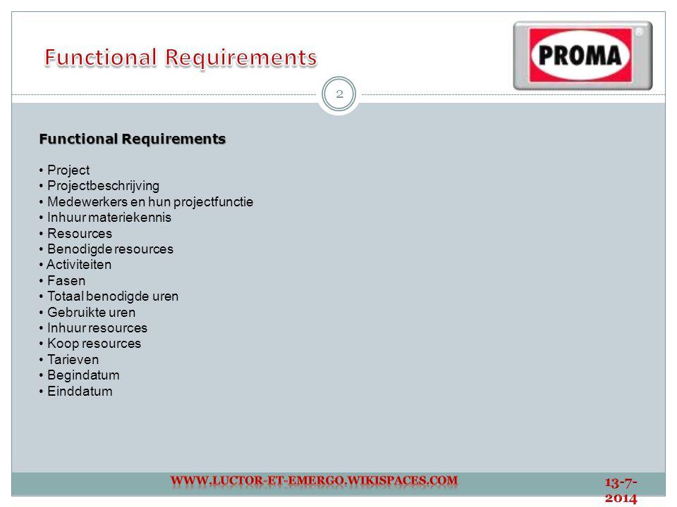 3 Non - Functional Requirements Gebruikersvriendelijkheid a.
