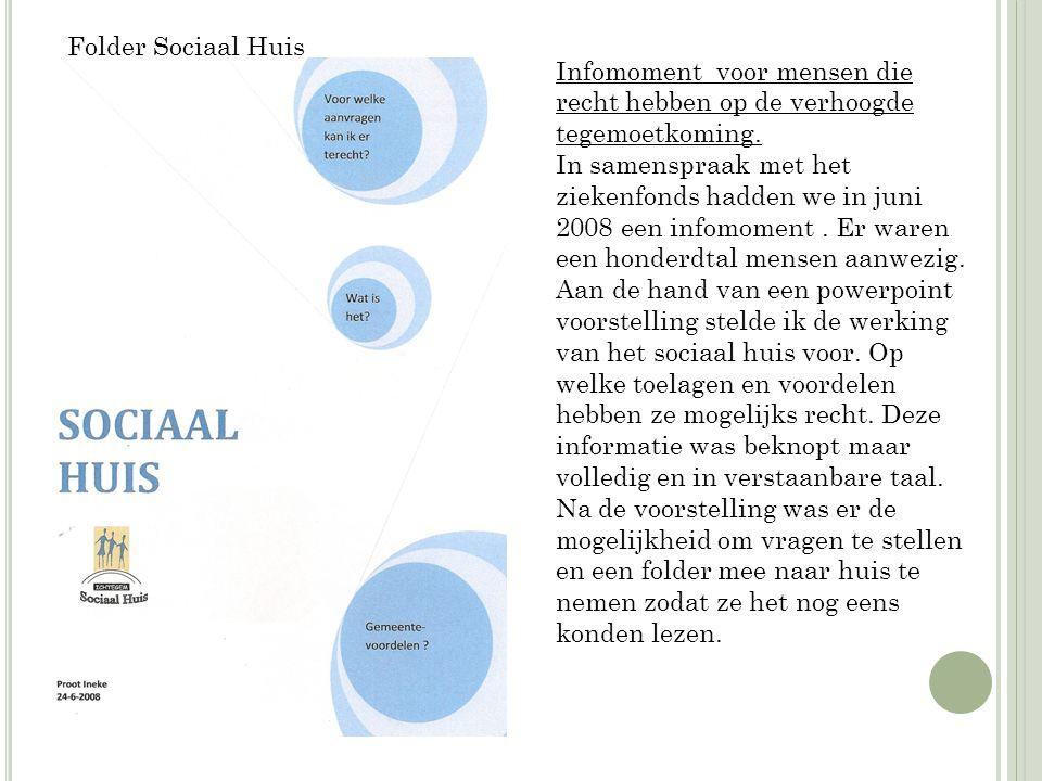 Proefproject 2009 'sport voor iedereen': Een samenwerking van de sportdienst van de gemeente, OCMW Ichtegem, bestuur sportraad en het sociaal huis.