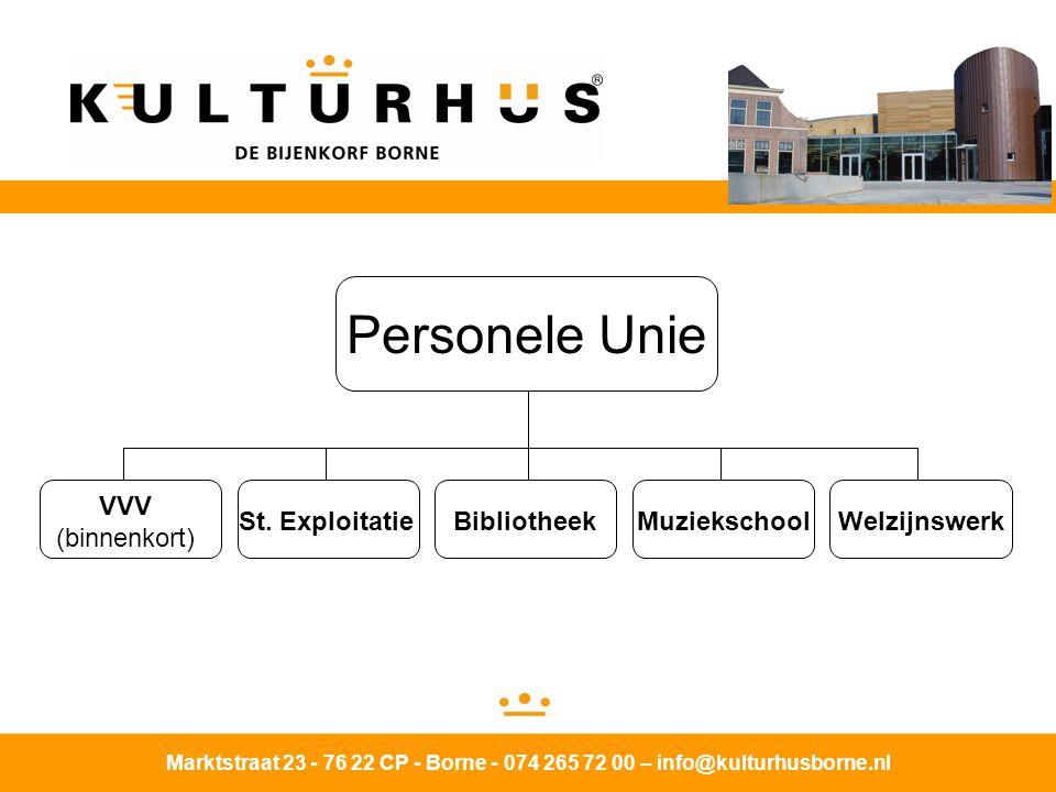 Marktstraat 23 - 76 22 CP - Borne - 074 265 72 00 – info@kulturhusborne.nl VVV (binnenkort) St.