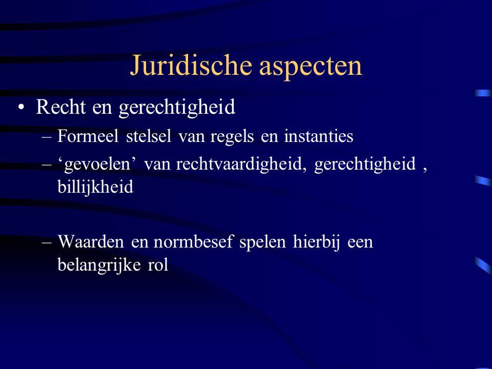 Juridische aspecten Een belangrijke norm die ten grondslag ligt aan met name patiëntenrechten is: –Het zelfbeschikkingsrecht (art.